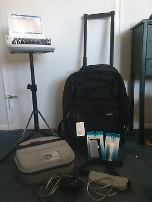 Stenograph Diamante Writer, EasyLock Stand, USB Cord, Charger, Carrying Bag&Case