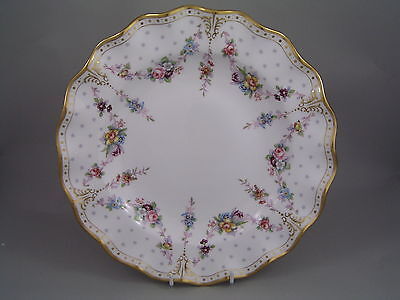 """Royal Crown Derby Royal Antoinette 10"""" Dinner Plate, New, Made In England."""