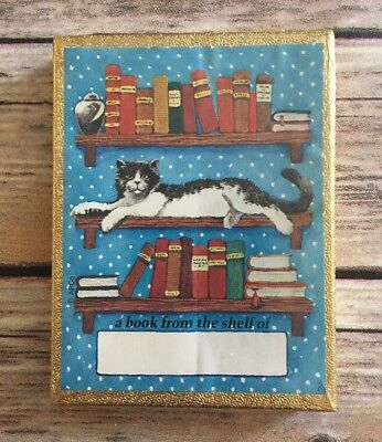 Vintage Bookplates Cat Lady Antioch Bookplate Company Yellowsprings OH (BinM)