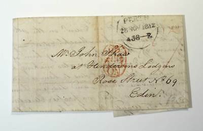 Rare Piece of Postal History - Letter from Perth to Edinburgh Scotland 1812.