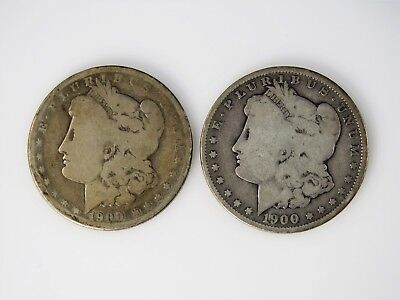 Lot of Two (2) 1900-O U.S. Morgan Silver Dollars ~  AG to G