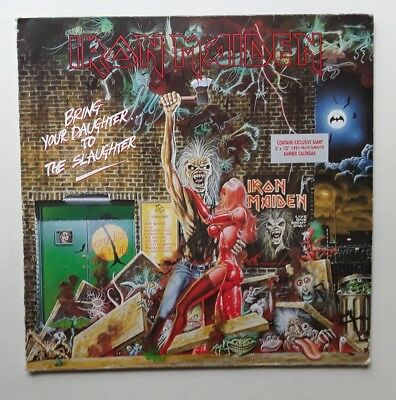 """Iron Maiden Bring Your Daughter To The Slaughter 12"""" vinyl record single 1990"""