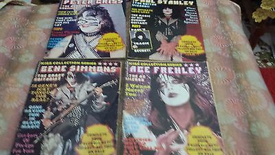Kiss  Complete Set Of 4 Solo Collector Magazines 1979-