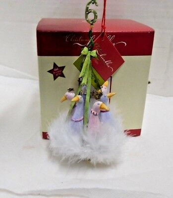 12 Days Christmas Ornament Krinkles Patience Brewster 6 Geese A Laying Dept 56