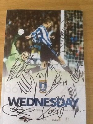 SHEFFIELD WEDNESDAY v LEEDS UNITED SIGNED BY LEEDS PLAYERS 2017-2018 PROGRAMME