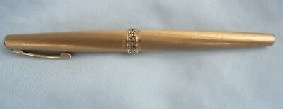 Good Vintage Lady Sheaffer Gold Tone White Dot Fountain Pen 14 K Nib.