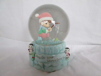 2000 Precious Moments Musical Water Globe - We Wish You A Merry Christmas