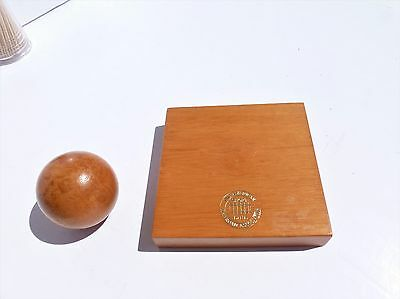 AMERICAN RAILROAD ASSOCIATION SHORT LINE Vintage Paperweight  MAGNETIC WOOD BALL