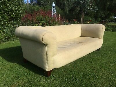 Early C20 Chesterfield Sofa. Needs Re-covering And Part Upholstering