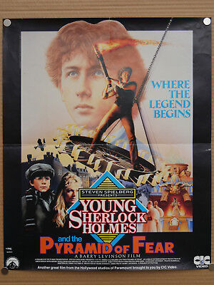 young sherlock holmes and the pyramid of fear uk video shop film poster