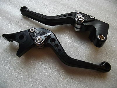 Yamaha YZF R1 1999-2001, CNC levers set short black / chrome adjusters F21/Y688