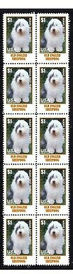 Old English Sheepdog Mans Friend Strip Of 10 Stamps#4