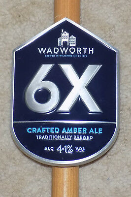 Wadworth '6X' heavy metal pump clip with fixings