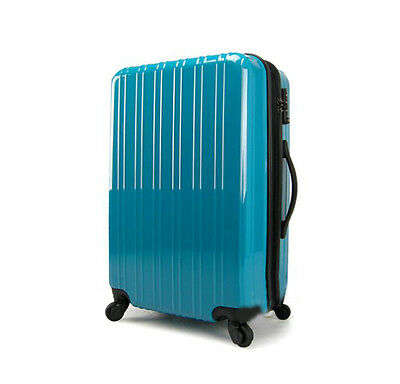 "24"" Blue Height 65cm & Width 42cm Universal Wheel ABS Travel Suitcase Luggage"