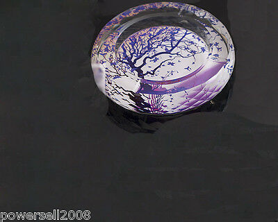 "Fashion Polyhedral Shiny Crystal Glass Household Hotel Use Ashtray""Purple Tree"""