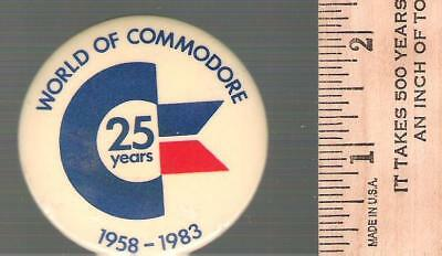 Collector buttons - Commodore Business Machines - 1983 25 year anniversary