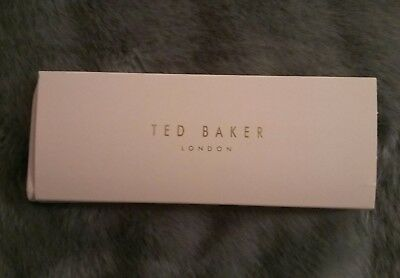 Ted Baker London pink and rose gold glasses case