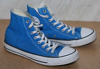 Converse - Blue Canvas All Star High Top Shoes - Uk 7