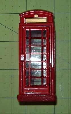 Telephone Booth,  All DieCast Painted Metal,  Great Britain Style,   2004 Lemax