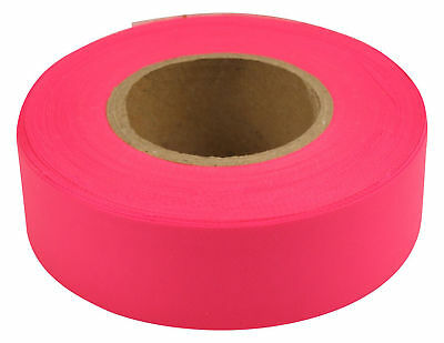 """Merco M220 Pink Flagging Tape - 1-3/16"""" x 300' - Convenience Pack of 72 Rolls"""
