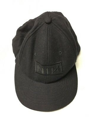 VTG 90's NINE INCH NAILS EMBROIDERED NIN NOTHING LOGO 6 PANEL DUAL SNAPBACK HAT
