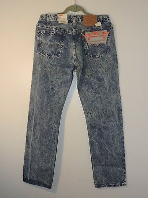"""vintage levis 501 jeans made in USA """"whitewashed"""" size 33 X 30"""