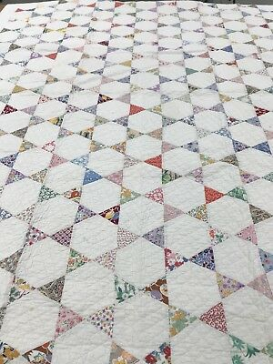 Antique Quilt - Hand Pieced -Brilliant or Pointing Star-ca. 1935