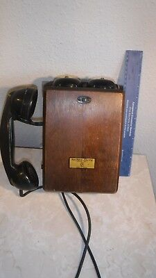 Vintage 1933 Northern Electric Wall Phone N717CG-51 & Northern Electric F1-GREAT