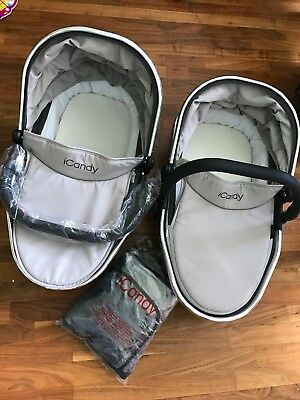 Icandy Peach 3 Truffle Carrycot (nearly new)
