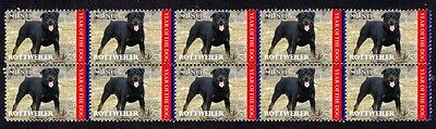 Rottweiler Year Of The Dog Strip Of 10 Mint Stamps 3
