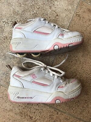 Girls Heelys White Pink 7081 Size UK 13.