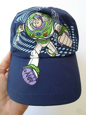 Buzz Light Year Toy Story Pixar Small Child Xs/xch, Adjustable Blue Hat Cap, Exc