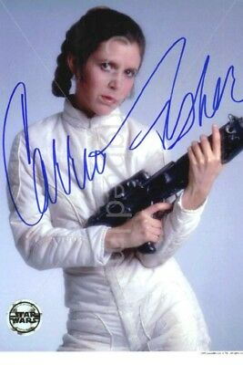 Carrie Fisher Signed Autographed Photo