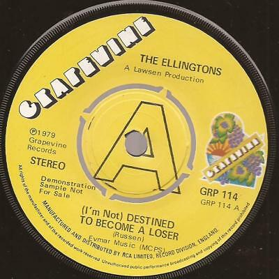 """The Ellingtons """"Destined To become A Loser"""" Northern Soul UK Grapevine 114 Demo"""