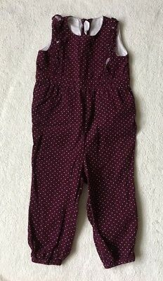 ***H&M baby girl Purple cord polka dot jumpsuit 12-18 months EXCELLENT!***
