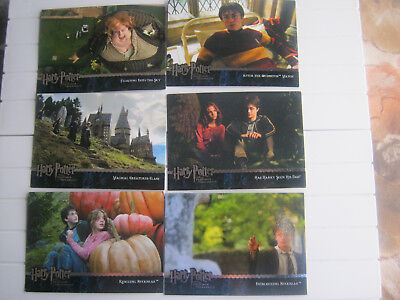 Lot of 6 trading cards Harry potter and the Prisoner of Azkaban