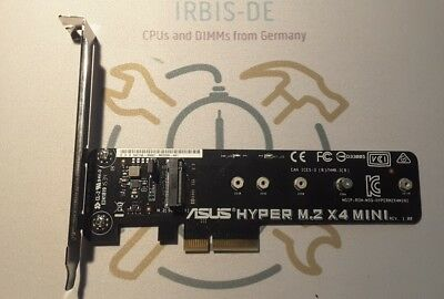 Asus Hyper M.2 x4 mini (card adapter for SSD on board) Retail used from Germany