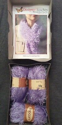 Knit Your Own Scarf Set In Box - Brand New - Designer Stitches
