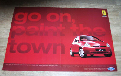 FORD KA - PAINT THE TOWN RED - ORIGINAL magazine advert poster