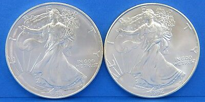 2 Walking Liberty Silver Eagle US Coin Proof Set - 1993 1994