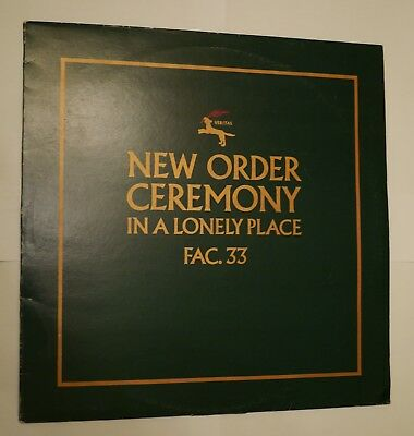 "New Order 12"" Single Ceremony, Vinyl"