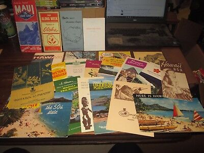Huge Collection Of Vintage Hawaiian Travel Guides/brochures And More !!!!!