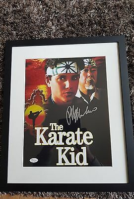 Ralph Macchio Signed Framed Photo With Jsa Karate Kid 1984
