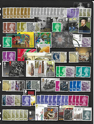 GB £150+ FACE VALUE UNFRANKED VARIOUS VALUE STAMPS FROM .10p-£5 OFF PAPER NO GUM