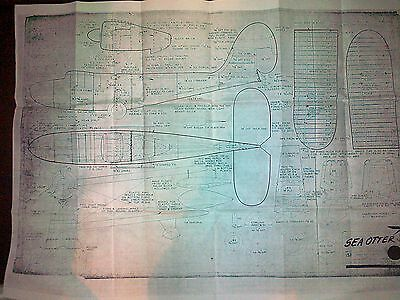 Sea Otter Ff Scale Plan By H G Moore 30 Inch Span
