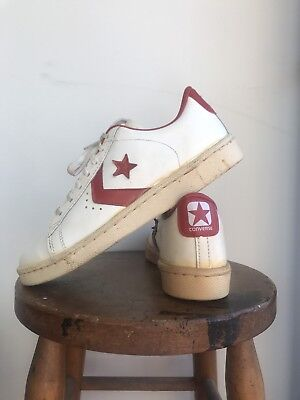 Deadstock 1970s Converse Pro All Star Low USA Size 8 Red