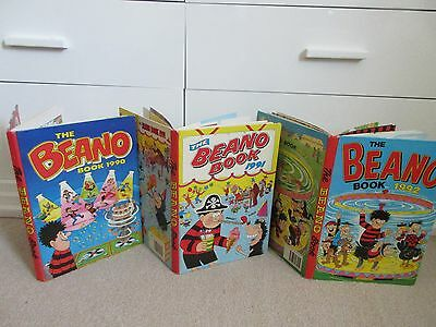 The Beano Book/ Annual  x 3- 1990,1991,1992- Good/Very Good condition