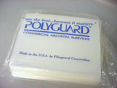 "POLYGUARD 4""x5"" clear poly archival negative film sleeves 4x5 (pkg of 100 ct.)"