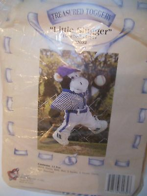 "Tender Heart ""LITTLE SLUGGER"" Treasured Toggery 12"" Bear Outfit NIP #82032"