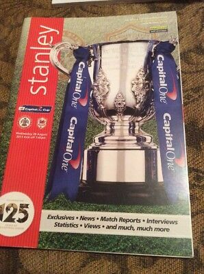 Accrington Stanley v Cardiff City League Cup 2013/14